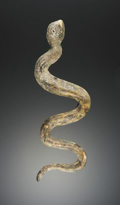 Marvel at this tiny Roman glass snake from about the 1st century.
