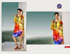 Beautifully designed indo-western Georgette and sequence Kurti digitally Printed Tri-colored. Available in sizes from S to XL