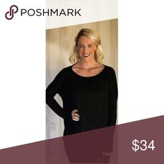 Long Sleeve Black Piko Girls, if you don't own a Piko top, you're missing out. We love the oversize fit and the comfort of these shirts! Not only are they the perfect fall layering piece, but they're perfect just by themselves.   Oversize fit Made of Bamboo Spandex Material. Customer Favorite Model is usually a size small and is wearing a small. piko 1988 Tops Tees - Long Sleeve