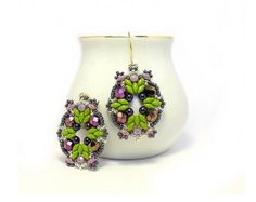 """Items similar to Earrings Tutorial with Superduo beads """"Intuition number 3"""" on Etsy"""