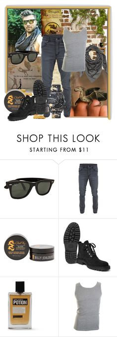 """Inside my head"" by sasane ❤ liked on Polyvore featuring Ray-Ban, Cheap Monday, Billy Jealousy, Dries Van Noten, Dsquared2, Diesel, men's fashion and menswear"