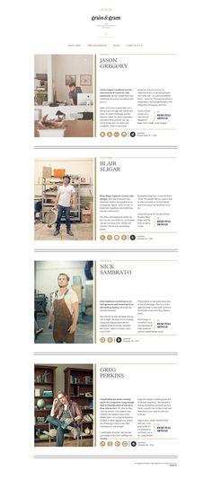The new gentleman's journal Grain & Gram is a designer, photographer… Book Layout, Web Layout, Ux Design, Layout Design, Design Ideas, Beautiful Web Design, Portfolio Site, Publication Design, Graphic Design Print