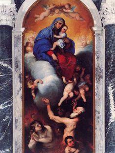RITROVAMENTO E RESTAURO: Madonna con Bambino e anime purganti di Luca Giordano - Descrizione dell'opera e mostre in corso - Arte.it