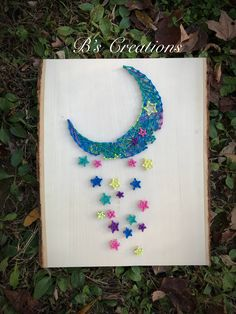 Moon and stars string art !!