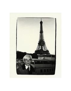 Andy Warhol and Eiffel Tower, c.1982