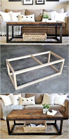 Cheap DIY Projects,DIY Industrial Coffee Table-Skip all of those ideas which dem. - Cheap DIY Projects,DIY Industrial Coffee Table-Skip all of those ideas which demand a lot of money - Diy Wood Projects, Furniture Projects, Home Projects, Diy Furniture, Home Design Diy, Design Ideas, Interior Design, Diy Coffee Table, Coffee Table Design