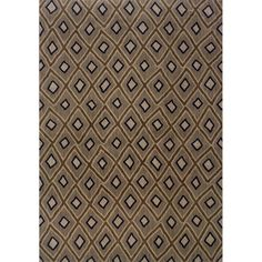 @Overstock - Featuring a durable yet soft nylon construction, this beautiful rug will make a wonderful addition to any room. This area rug showcases a stunning geometric diamond motif in shades of grey, brown, ivory, and blue.http://www.overstock.com/Home-Garden/Indoor-Grey-and-Brown-Geometric-Area-Rug-67-X-96/7714454/product.html?CID=214117 $439.99