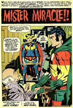 Jack Kirby was born on August 28, 1917 -- he co-created the Fantastic Four, X-Men, the Hulk, and DC's Fourth World characters, including Mister Miracle and Big Barda.