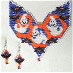 Peek-A-Boo! Necklace and Earrings - A project from Bead-Patterns the Magazine Issue 37 (Sep/Oct 2011) Fall Issue