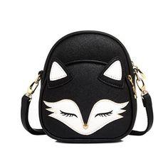 Cute Fox Rabbit Cat Bear Face Women Bag Baby Girl Mini Shoulder Bag For Women Cross Body Bags Lady PU Leather Handbags Animal