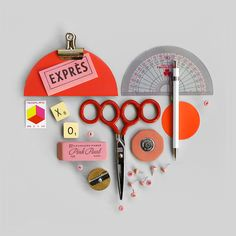 I love the stationery compositions of Present and Correct. They take the most mundane things and turn them inot little works of art.