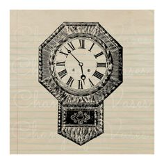 Digital Download Vintage Wall Clock with by ChangingVases on Etsy, $1.50