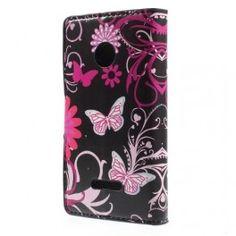 Lumia 532 kukkia ja perhosia puhelinlompakko