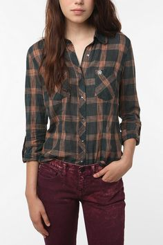 I still love plaid and I love all the neat colored jeans and pants this season!