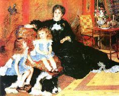 「シャルパンティエ夫人とその子供たち」/ルノワール 1878年