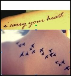 Mother / Daughter tattoo - I carry your heart - I carry it in my heart