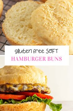 These Gluten Free Hamburger Buns are the answer to your classic burger dreams! They don't fall apart and are oh so soft. There is also a dairy-free option that you can make. Gluten Free Hamburger Buns, Gluten Free Buns, Gluten Free Biscuits, Gluten Free Flour, Gluten Free Cooking, Wheat Gluten, Eating Gluten Free, Gluten Free Breads, Dairy Free Gluten Free Desserts
