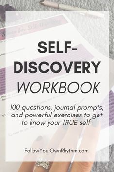 Self-Discovery and Personal Growth Workbook - Workbook with 100 thought-provoking questions, journal prompts, and powerful exercises to help you - Thing 1, Self Awareness, Self Healing, Self Improvement Tips, Self Care Routine, Self Discovery, Growth Mindset, Fixed Mindset, Journal Prompts