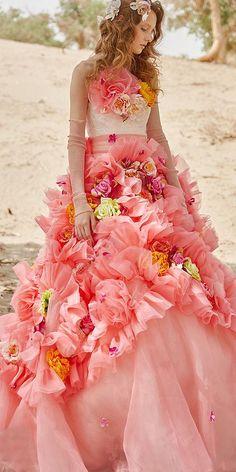 Fairytale Colorful Tiglily 2018 Wedding Dresses ★ #bridalgown #weddingdress