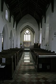 The nave and chancel, century. Great Yarmouth, Checkerboard Pattern, Cathedrals, Norfolk, Saints, Old Things, Tower, England, Rook
