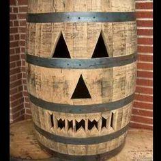 Halloween barrel
