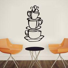 $1.41 - Diy House Hotel Restaurant Kitchen Decor Coffee Cup Design Wall Sticker #ebay #Home & Garden