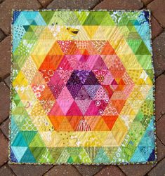 patchwork prism by marci girl designs - this is quite possibly the most beautiful quilt I've ever seen. I must make one similar soon.