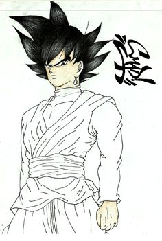 Resultado de imagen de goku para dibujar a lapiz facil  favoritos