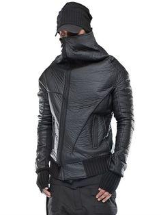 DEMOBAZA PROVOCATEUR NEOPRENE JACKET, BLACK. #demobaza #cloth #casual jackets
