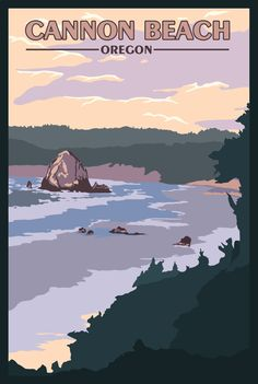 Beach OR - Vintage Travel Poster Cannon Beach OR - Vintage Travel PosterOn the Beach On the Beach may refer to: Oregon Travel, Travel Usa, Oregon Vacation, National Park Posters, National Parks, Vintage Travel Themes, Cannon Beach Oregon, Best Places To Camp, Tourism Poster