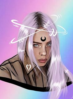 10 Ways To Use Stickers To Flood Your Socials With Billie Eilish Fan Art - Create + Discover with PicsArt Cartoon Wallpaper, Wallpaper Collage, Drawing Wallpaper, Music Wallpaper, Billie Eilish, Fan Art, Background Macbook, Art Sketches, Art Drawings