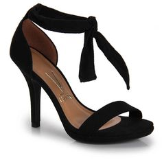 Sandália Salto Feminina Vizzano - Preto Dressy Sandals, Women's Shoes Sandals, Cute Heels, Shoe Art, Fashion Heels, Party Shoes, Bridal Shoes, Heeled Boots, Beautiful Shoes