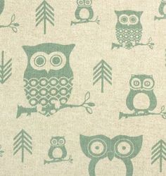 owl living room curtains | Linen napkins especially for my girlfriend who loves owls. xx