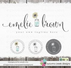photography logo sunflower logo premade logo by autumnscreek