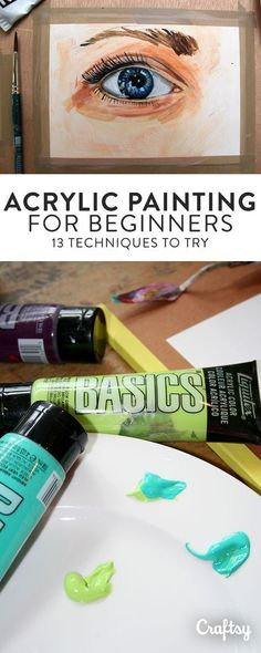 13 Acrylic Painting Techniques All Beginners Should Try Do you want to paint in acrylic but don't know where to start? Craftsy's guide to acrylic painting techniques for beginners is the perfect starting point. Acrylic Painting For Beginners, Acrylic Painting Techniques, Beginner Painting, Art Techniques, Watercolor Techniques, Acrylic Paintings, Tree Paintings, Portrait Paintings, Painting Trees