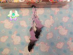Creepy Cute Purple and Black Bat Dust Plug  Phone by SammysJewels