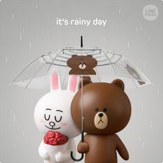 Cute Couple Cartoon, Cute Love Cartoons, Cony Brown, Cute Couple Wallpaper, Cute Love Gif, Brown Line, Teddy Toys, Bear Wallpaper, Line Friends