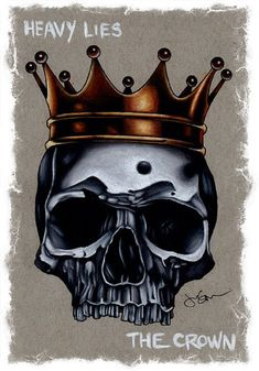 Title: Heavy Lies The Crown Artist: Jeff SaundersMade-to-order giclee fine art reproductions on canvas featuring the original artwork of today's hottest tattoo