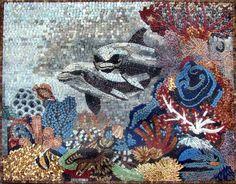 Underwater Sea Life Mosaic