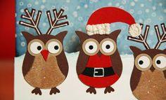 Christmas Winter Owls