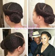 THIS!!! Retro Natural Hair UPDO. Low manipulation. Protective style