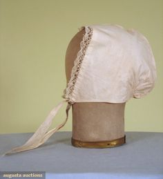 COTTON DAYCAP, MID 19th C... this is dated wrong, it should be early 19th Century.