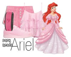 """Ariel~ DisneyBound"" by basic-disney ❤ liked on Polyvore featuring Pierre Balmain, adidas Originals and Disney"