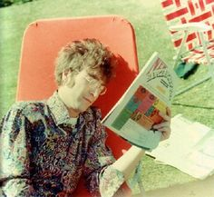 John reading in the sun ♥