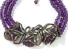 "Heidi Daus ""Heavenly Bloom"" 3 Row Flower Necklace Ret $349 95 $100 Off | eBay"