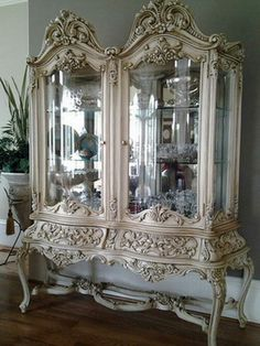 LuxTouch Vintage Furniture & Decor ~ With Louise May Heath... Matallic painted rococo cabinet...