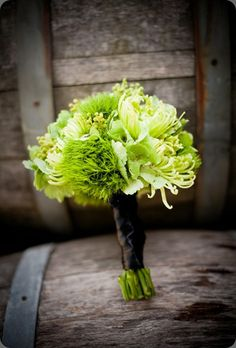 Beautiful green bouquet by Botanica Floral Designs..