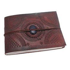 Indra Medium Stoned Leather Photo Album - photo albums £30