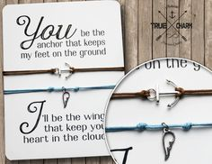 Valentines gift  - Valentines day card with bracelet - Valentines day gift for him - Couples Jewelry - his and her bracelet - love bracelet