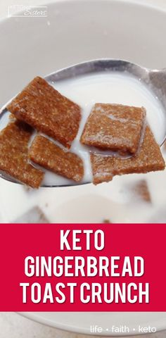This Keto Gingerbread Toast Crunch Cereal recipe is the perfect breakfast to start the day. Tastes better than store bought and much healthier. Keto Foods, Keto Diet Drinks, Keto Approved Foods, Ketogenic Recipes, Keto Recipes, Diet Menu, Keto Cereal, Crunch Cereal, Low Carb Cereal